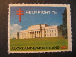 Auckland Northland TB Tuberculose Tuberculosis Health Sante Poster Stamp Label Vignette Viñeta T.B. New Zealand N - New Zealand