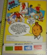 PUB PUBLICITE TINTIN HERGE ESPANA 82 MUNDIAL - Alte Papiere