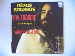 Disque Vinyle 45 Tours DEMIS ROUSSOS My Reason (Ma Musique) / When I'am A Kid - Vinyles
