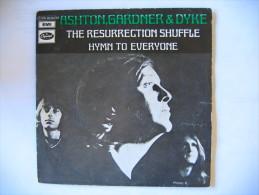 Disque Vinyle 45 Tours ASHTON GARDNER & DYKE The Resurrection Shuffle / Hymn To Everyone - Vinyles