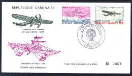 A5002 GABON 1973, Aviation FDC - Gabon