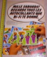 PUB PUBLICITE TINTIN HERGE AUTOCOLLANT BI-FI - Alte Papiere