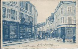 29  - SAINT-FLORENTIN  -  Place Des Fontaines Et Grande-rue - Saint Florentin