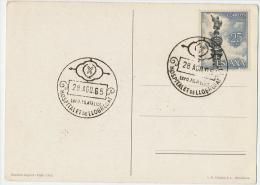EXPO FILATELICA HOSPITALET De LLOBREGAT 28 Ago 1965 Su Postal FIESTAS De La MERCED 1962 - Otros