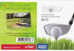 Australia-2011 Golf Sheetlet $ 1.65x5, MNH - Sheets, Plate Blocks &  Multiples
