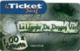TICKET SURF FT NON GRATTE  1000 EX  DRAGON - Frankrijk