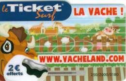 TICKET SURF FT NON GRATTE 2000 EX VACHE - Frankreich