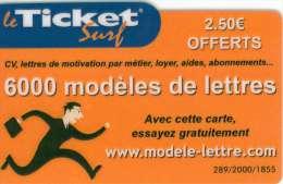 TICKET SURF FT NON GRATTE 2000 EX - Frankreich