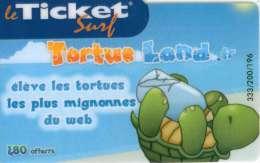 TICKET SURF FT NON GRATTE 200 EX RARE TORTUE - Frankreich