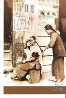 Repro 1998  Street Corner Hairstyling Services In Hong Kong In The '30s - Chine (Hong Kong)
