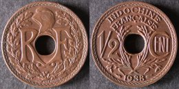 INDOCHINE  1/2 Cent 1938 Sortie De Rouleau SUP  INDOCHINA   INDOCINA PORT OFFERT - Camboya