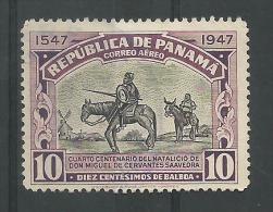 Don Quichotte Et Sancho Panca 10c Violet - Panama