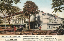 COLOMBO BRISTOL HOTEL VOIR AU VERSO TARIFS - Sri Lanka (Ceylon)