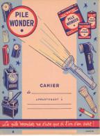 Pile Wonder Ne S'use Que Si L'on S'en Sert Eclairage Portatif Illustré Par Lalart - Protège-cahiers