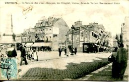 CPA CHERBOURG-CARREFOUR DES RUES ABBAYES,DE L'ONGLET,UNION ....... - Cherbourg