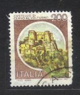 R883 - REPUBBLICA Castelli . Il 200 Lire Con Centro Giallo. Difetti Di Dentellatura. - 6. 1946-.. Repubblica