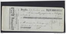 BELGIQUE, CHEQUE DE STRAETMANS FRERES, BRUXELLES 31.07.1921. ( JNF98) - Belgique