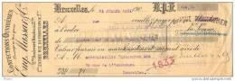 BELGIQUE, CHEQUE DE BANQUE D´ OUTREMERE, BRUXELLES 31.07.1921. ( JNF101) - Belgique