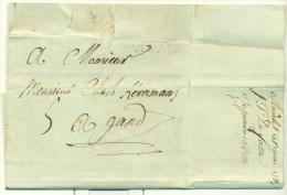 """Belgique - Précurseur Stavelot Vers Gand Du 13/03/1789, Griffe """"VERVIER"""" (H3), Superbe, See Scan - 1789-1790 (Brabant Revolution)"""