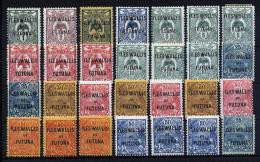 A1905) France Frankreich Wallis Et Futuna 28 Marken * Mit Falz Unused MH - Wallis Und Futuna