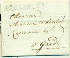 "Belgique - Précurseur Stavelot Vers Gand Du 23/11/1790, Griffe ""DE STAVELOT"" (H1), Superbe, See Scan - 1789-1790 (Brabant Revolution)"