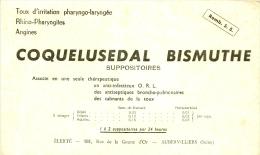 BUVARD - Produits Parmacieutiques -  COQUELUSEDAL BISMUTH  - Laboratoire Elerté Aubervilliers Taché - Droguerías