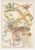 C01014 - Cartina Figurata ZONA ARCHEOLOGICA - Ente Prov. Turismo AGRIGENTO - Illustrata Da Cigheri 1952 - Mappe
