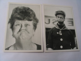 2 CARTES GRIMACES...MAMY ET VIEUX LOUP DE MER - Humour