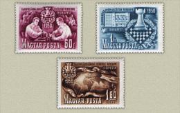 Hungary 1950. Chess Set MNH (**) Michel: 1092-1094 / 15 EUR - Chess
