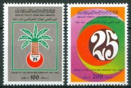 1982 Libia 25° Della Mezzaluna Libica Set MNH** R - Libia