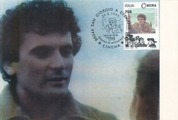 D12171 CARTE MAXIMUM CARD 1996 ITALY - MASSIMO TROISI CINEMA CP ORIGINAL - Actors
