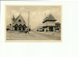 Westende  La Chapelle Et La Station Du Tram - Westende