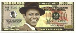 USA $1.000.000.000 FUNNY MONEY FRANK SINATRA FRONT & BACK SERIES 2009 READ DESCRIPTION CAREFULLY !! - Stati Uniti