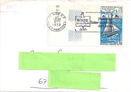 YT 1621 SSL POUR LA  FRANCE   OBL  NICE 8/5/70 - 1961-....