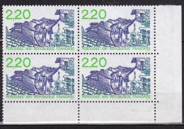 N° 2550 Série Touristique: Vue De Pérouges: Bloc De 4 Timbres - Unused Stamps