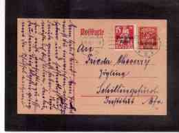 DE554   -   GERMANY    POSTAL HISTORY   -   POSTKARTE   MICHEL NR. P.  125 (+ Mi. 121)   -  NUERNBERG  9.11.1920 - Covers & Documents