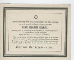 Hermans Marie épouse De Josse Van Waeterschoodt, Anvers 29 Octobre 1842 - Obituary Notices