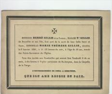 Gillis Marie Thérèse, Anvers 6 Janvier 1835 - Obituary Notices