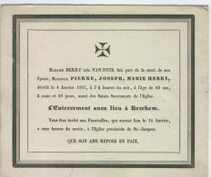 Herry, Pierre époux De Mme Van Dyck, Anvers, 4 Janvier 1837, - Obituary Notices