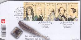 .FDC  MUZIEK Meesters V/d Muziek  Les Maitres De Musique - 2001-10