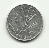 1955 - Italia 2 Lire - 1946-…: Republik