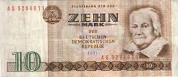 Billet 10 MARK DDR - [ 6] 1949-1990 : GDR - German Dem. Rep.