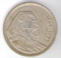 EGITTO 10 PIASTRES 1957 AG - Egitto