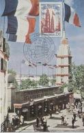 FOIRE DE PARIS (Yvert 975) Carte Maximum. Cahet Temporaire Illustré /1954 - 1950-59