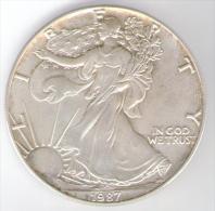 STATI UNITI ONE DOLLAR 1987 AG - Emissioni Federali