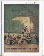Prgramme Théatre Les Ambassadeurs,la Cuisine Des Anges - Programmes