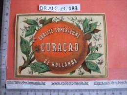 1  XIX Ième Etiquette  LITHO  PARIFINE SUBLIME - CURACOA Curaçao De Hollande  -imprimerie  Victor Palyart - Autres