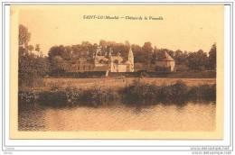 Saint-Lô (Manche) 50, Château De La Vaucelle, Scan Recto-verso, CPSM - Saint Lo