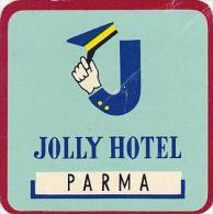 ITALY PARMA JOLLY HOTEL VINTAGE LUGGAGE LABEL - Etiketten Van Hotels