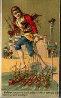 Boulogne Sur Seine, Au Progrès, Grands Magasins De Chaussures, Chromo Lith. Laas, Thème Gulliver - Cromos